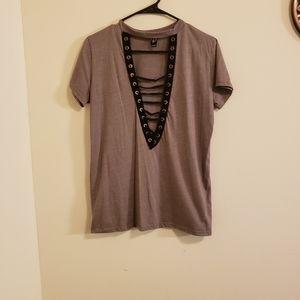 Windsor Edgy Laceup Tshirt